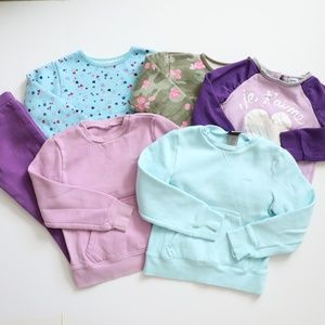 Other - Lot of 6 Toddler Girl's Sweatshirts Sweaters 4/5